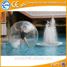 Transparente tpu / pvc grande bola de água inflável zorb, água pé preços bola