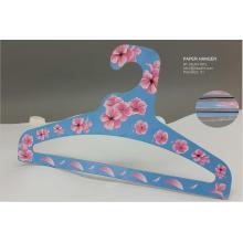 Дешевый легкий вес мультфильм цветок бумаги верхней вешалка для одежды