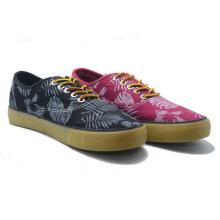 Blatt Muster Canvas Casual Vulkanisierung Frauen Männer Fation Schuhe