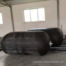 marine inflatable rubber fender with tyre and chain net