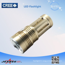 Jexree golden led long range rechargeable torch 3200 lumen led torches high power