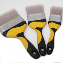 PDB-011 Natural Wood Painted/ Varnished Paint Brush Soft Grip handle paint brush