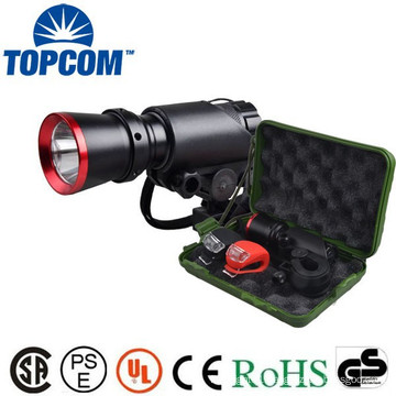 Factory Price Long Distance LED Bicycle Flashlight With Gift Box