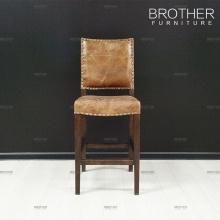 New design furniture antique velvet leather bar chair