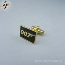 Comercio al por mayor de wenzhou tieclip conjunto a granel de moda de latón esmalte de metal oro mancuerna piezas fabricante camisas para hombre