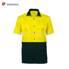 Hola Viz seguridad Polo cuello camiseta Mens EN471 reflectante seguridad manga corta contraste ropa de trabajo