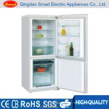 198L R600A 4 Étoiles Double Porte Ménage Haut Réfrigérateur Combi Réfrigérateur