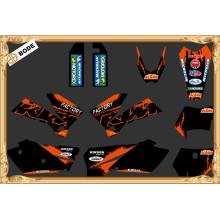 TEAM GRAPHICS DECALS FOR KTM SXF MXC SX EXC