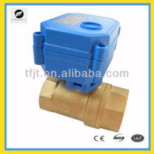 Válvula de bola accionada eléctricamente de funcionamiento bidireccional rápida para solar térmica, bajo el suelo, agua de lluvia, irrigación, servicio de plomería