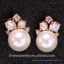 925 sterling silver pearl pendant jóias brinco