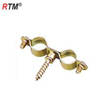Abrazaderas de doble tubo de acero en pulgadas