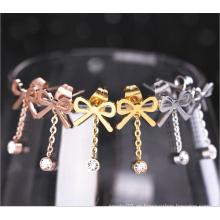 Regalos de mujer joyas de acero inoxidable joyas de moda pendientes (hdx1149)