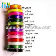 cordón elástico multicolor de la secuencia elástica rebordear clara para la pulsera ES05