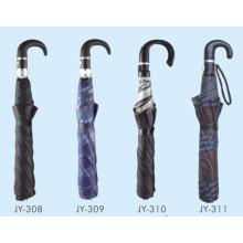 Автоматический открытый мужской 2-полосный зонтик (JY-14)
