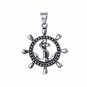 33422 xuping vente chaude bijoux en acier inoxydable bijoux noir pistolet couleur cool pendentif