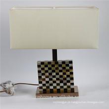 Canosa ECO-friendly madrepérola dourada com caneta shell lâmpadas de mesa