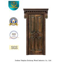 Porta de aço de segurança estilo clássico para exterior (b-6006)