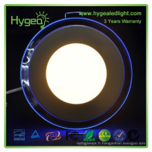 2015 ventes chaudes Round Blue + couleur blanche panneau led 18w Dimmable Changement de couleur led panel light price