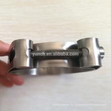 Bridas de escape de titanio de 3 pulgadas gr2 con conjunto de abrazadera v banda