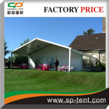 15x15m Chalet PVC clearspan structure with a recessed porch