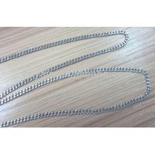 Edelstahl Schmuck Silber Bordstein Halskette