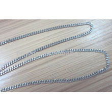 stainless steel jewelry silver curb chain necklace