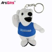 Vente en gros Promotion en vrac Personnalisé Mini Animal Toy Bear Peluche Keychain