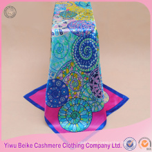 Cheapest bohemia brand fashion design satin scarf 90 90cm