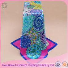 Дешевые бренд дизайн Богемия мода сатин шарф 90 90 см