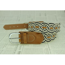 Pu belt braided leather belts