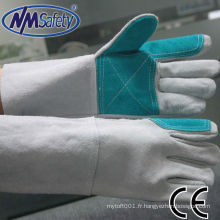 NMSAFETY gant de vache en cuir croûte de vache grise
