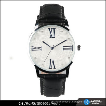 business mens geneva quartz watches leather black