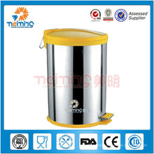 18/0 stainless steel litter bin, push pop containers
