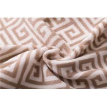 tricô aglutinado rolos 100 poliéster Tecido Fleece Coral