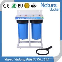 Filtro de agua de dos etapas con estante de hierro