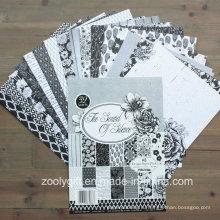 Черная белая бумага для вырезок для бумаг A5 Design Paper Pack