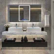 Solid Wood White Bathroom Cabinet