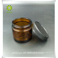 Luxury black glass jar 60g 50ml frosted jars copper lid black for cosmetic