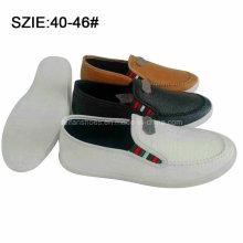 Los zapatos ocasionales de la PU del suéter de la nueva manera del estilo en la sutura (MP16721-23)