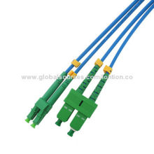 APC Fiber-optic Cables/Patch Cords, Various Connector Types Available