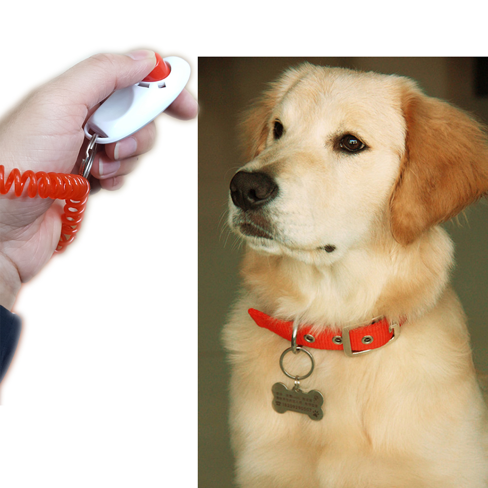Pet Dog Puppy Training Clicker with Wrist Strap