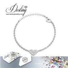 Destin bijoux cristaux de Swarovski coeur Bracelet