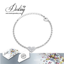 Destiny Jewellery Crystals From Swarovski Heart Bracelet
