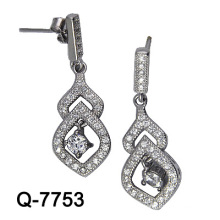 Новый дизайн 925 Серебряный моды серьги бижутерия (Q-7753. JPG