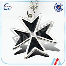 Sedex 4p decoração black silver metal dog tag