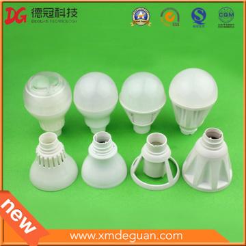 Cubierta LED de inyección de alta calidad Lámpara de PC Lámpara de plástico Sólo molde abierto