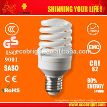 Hot! 15w 7mm Mini Full Spiral saving lamp SKD 10000H CE QUALITY