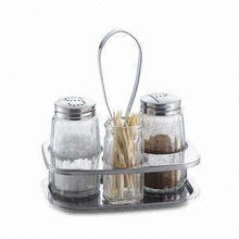 Condiment Set, Comes in Various Designs and Colors, Measuring Scale and Airtight Design