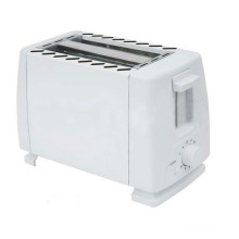 2-Slice Toaster with Metal Sides/PP Ends /White (WT-824)
