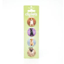 Marque de livre d'aimants pliable en forme de chien